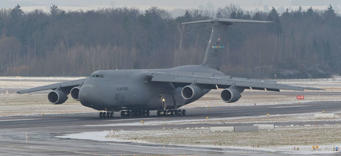 US Air Force C 5M Super Galaxy at ZRH