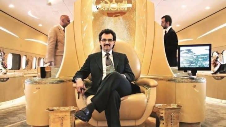 alwaleed bin talal in A380