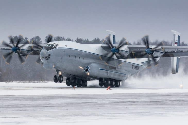 Antonov An 22 taking off