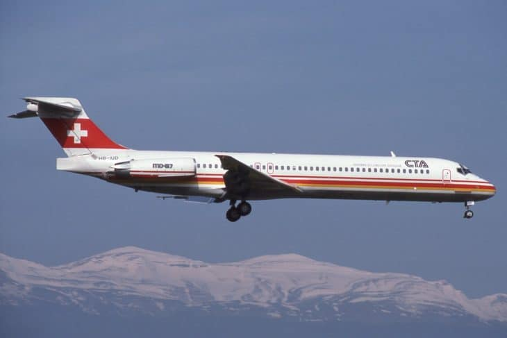CTA McDonnell Douglas MD 87 in flight