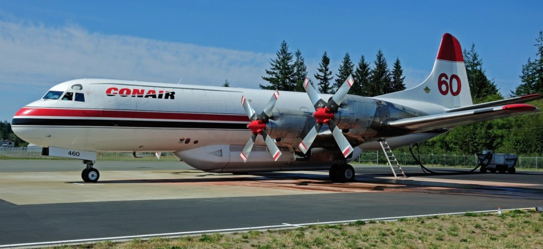 Conair Lockheed L 188AF Tanker at Campbell River Airport