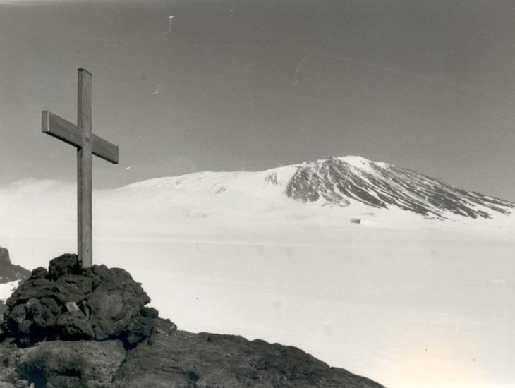 Cross on Mt Erebus
