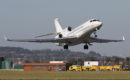 Dassault Falcon 8X climbing out of Luton