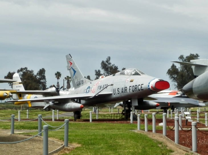 F 100 Super Sabre at Castle Air Museum