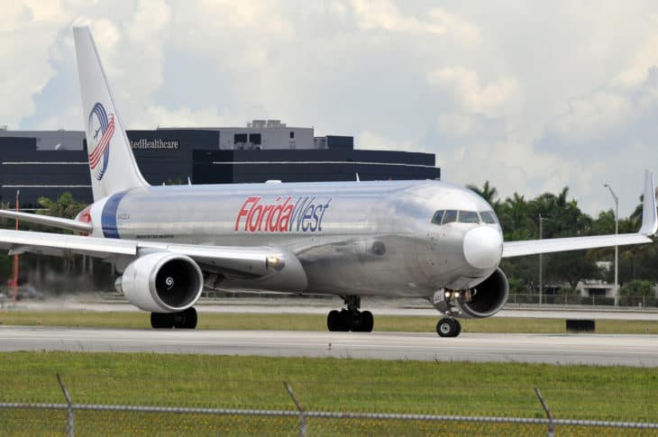 Florida West Airlines Boeing 767 300 at Miami International Airport
