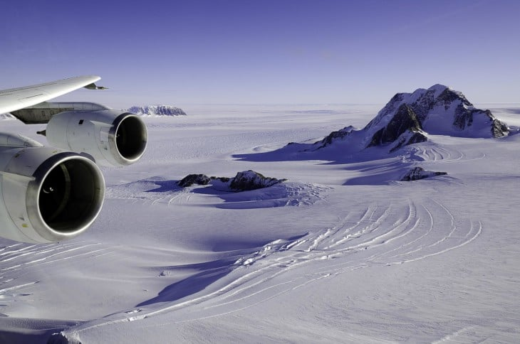 NASA DC 8 flying over Marie Byrd Land West Antarctica