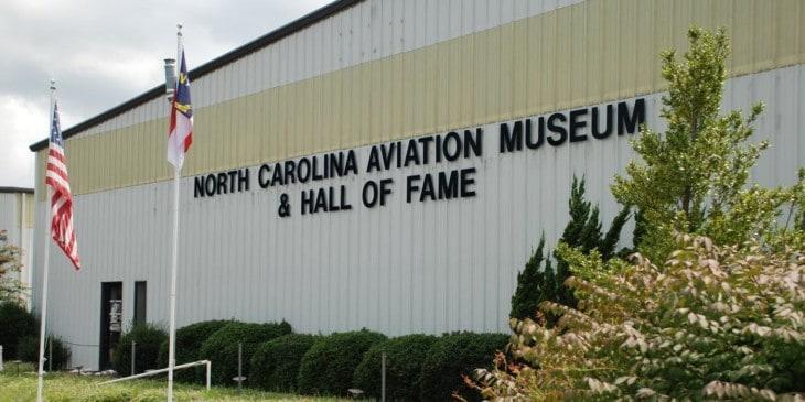 North Carolina Aviation Museum Hall of Fame outside