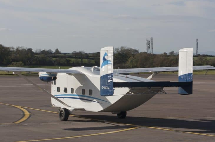 Short SC.7 Skyvan tail