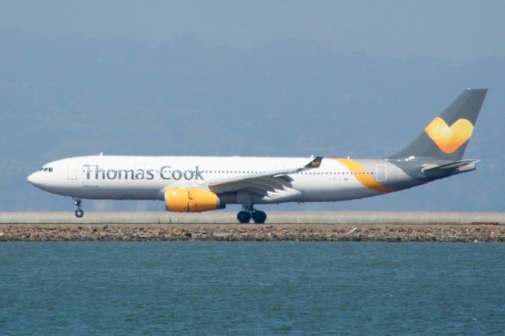 Thomas Cook Airbus A330 200 heat haze