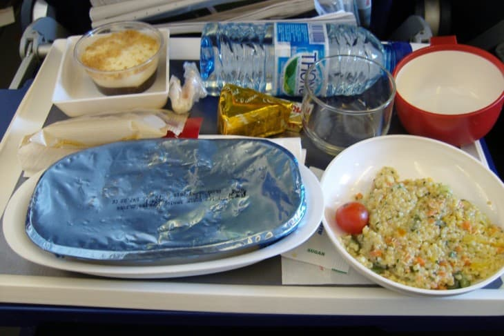 Typical in flight meal