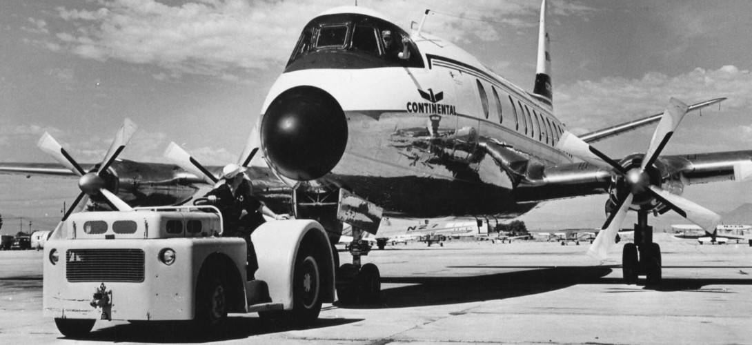 Vickers Viscount of Continential Airlines