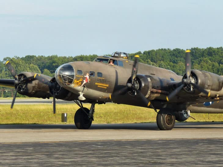 B 17 Flying Fortress at D Day National Memorial in Bedford