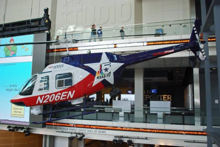 Bell 208B Jet Ranger on display in Washington DCs Newseum