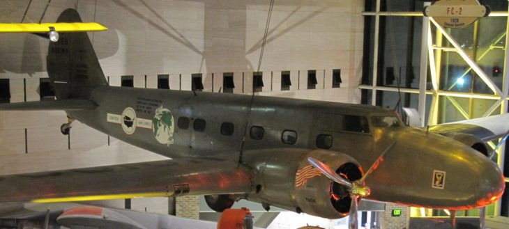 Boeing 247D in Smithsonian National Air and Space Museum