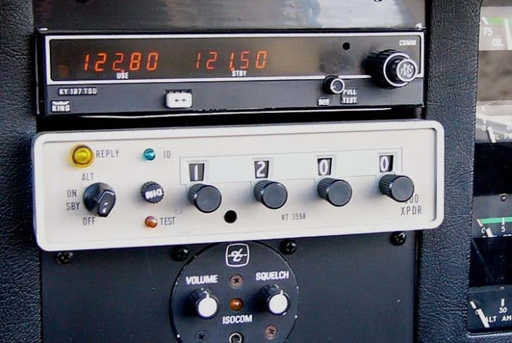 Cessna ARC RT 359A transponder and BendixKing KY197 VHF communication radio