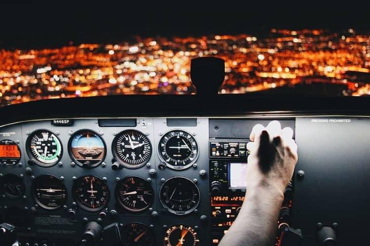 Instrument panel cockpit night