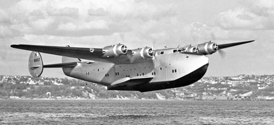 "A Boeing 314 ""Clipper"" in flight"