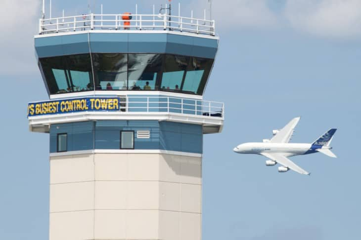 A380 and control tower