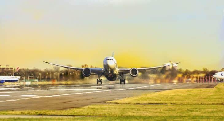 Airbus Rotates Off Runway