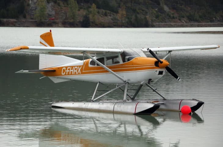 Cessna 185 Skywagon amphibian in Whistler