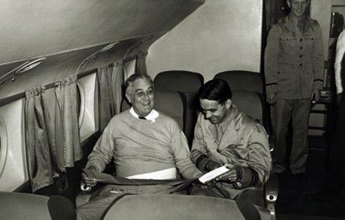 FDR first flight to Casablanca
