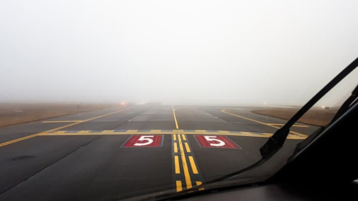 Foggy Line Up and Wait Runway 5