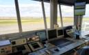 Inside Air Traffic Control Tower at Bergerac Airport