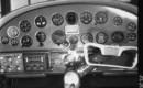 Cessna 195 instrument flight panel.
