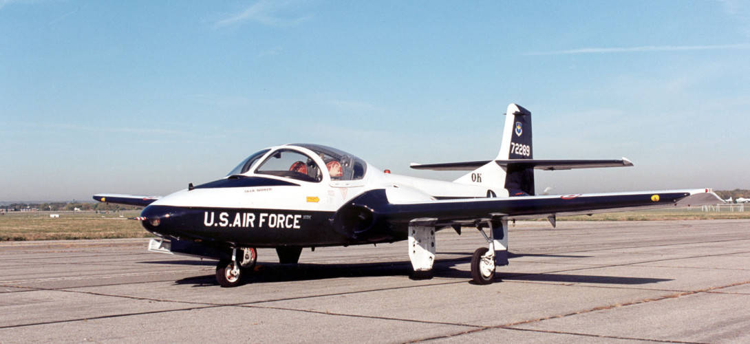 Cessna T 37B Tweety Bird at the National Museum of the United States Air Force