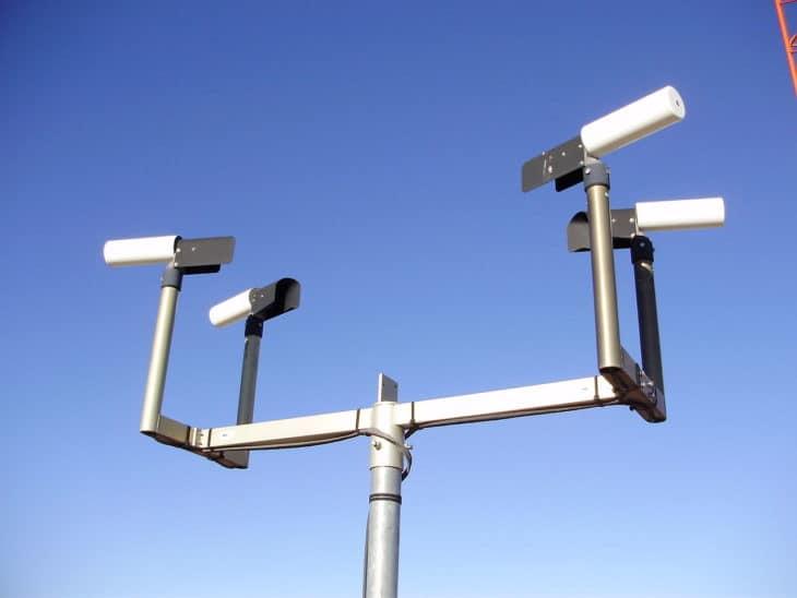 Eureka Airport AWOS visibility sensor