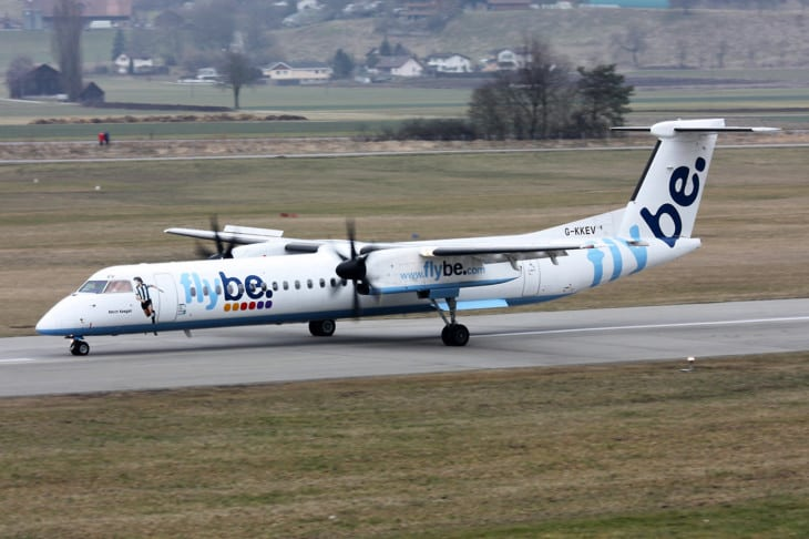 Flybe British European Bombardier DHC 8 402 Q400