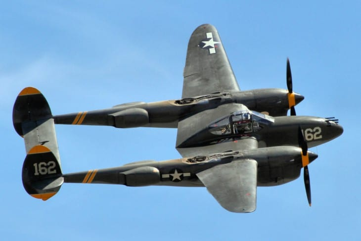 P 38 Lightning at Chino Airshow 2014