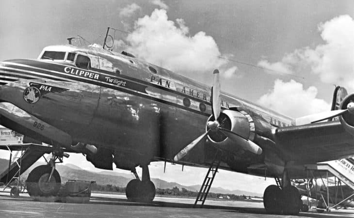 Pan Am DC4 Clipper in Trinidad in the 1950s