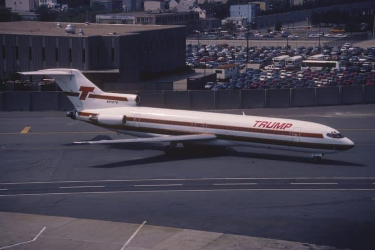 Trump Shuttle Boeing 727 225 in August 1990