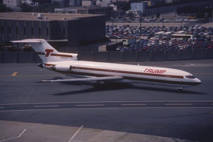 Trump Shuttle Boeing 727 225 in August 1990