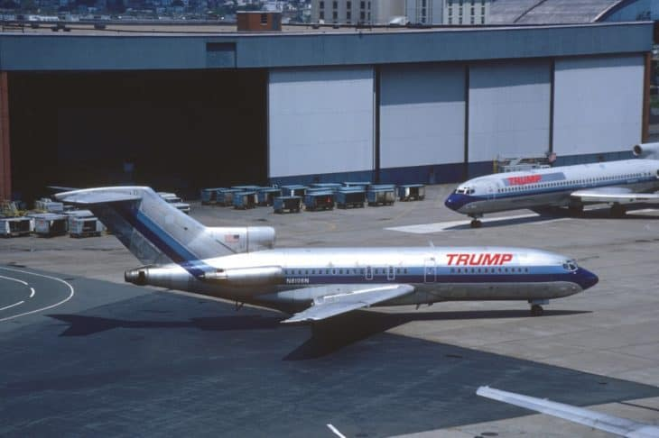 Trump Shuttle Boeing 727 25 at BOS in June 1989