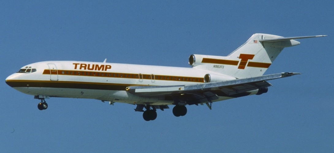 Trump Shuttle Boeing 727 25 at MIA in March 1992