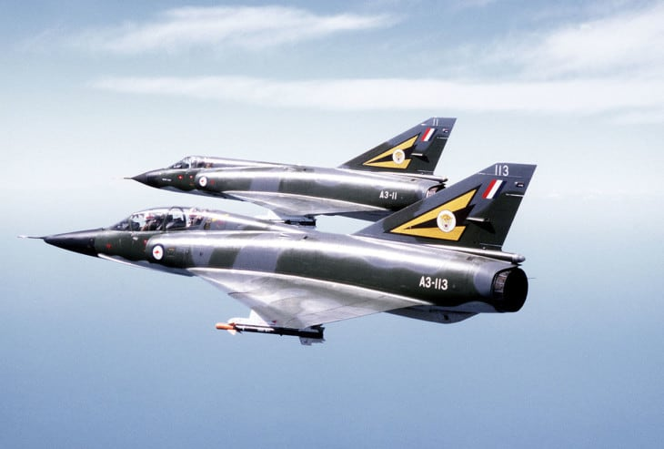 Two Mirage III of the Royal Australian Air Force