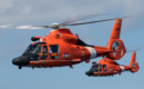 USCG MH 65 Dolphin formation flight over