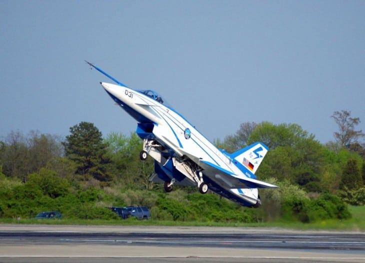 X-31 landing