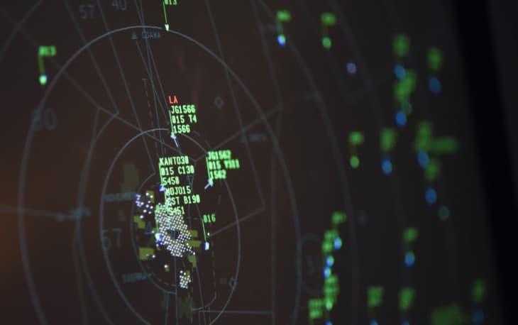 ATC radar screen