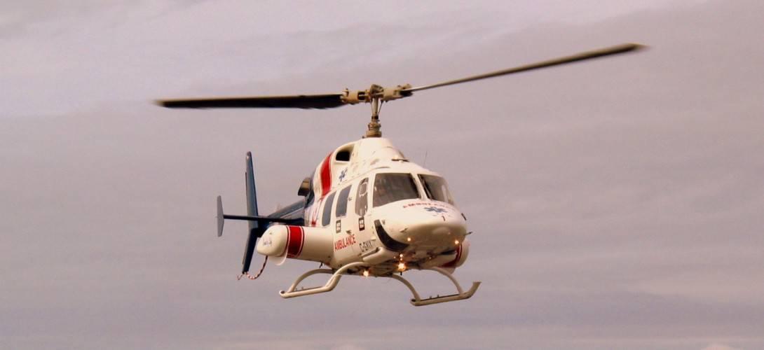Bell 222 approaching