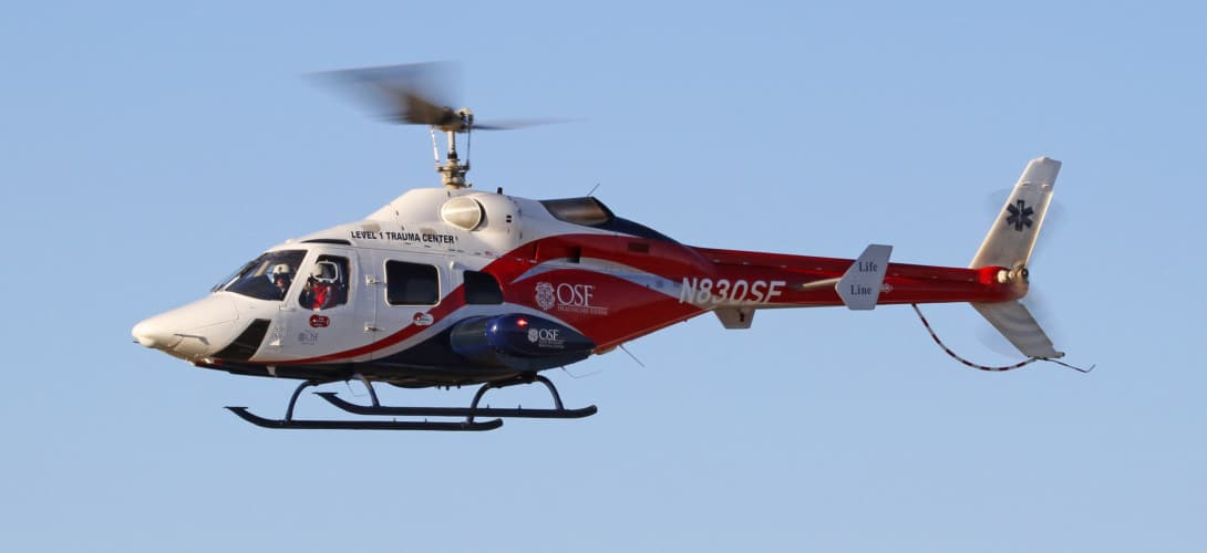 Bell 230 N830SF Life Flight.