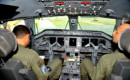 Cockpit of the R-99 airplane of the Brazilian Air Force