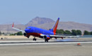 Crosswind landing for this Southwest Airlines Boeing 737