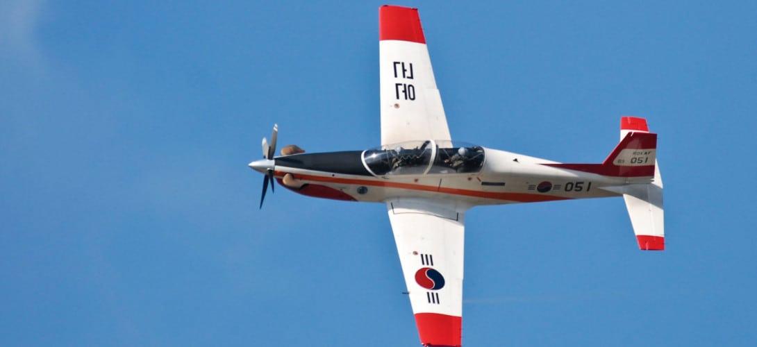 Demonstration Flight of ROKAF New Light Trainer KT 1 Woongbi