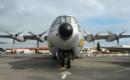 Douglas C 133A Cargomaster front view