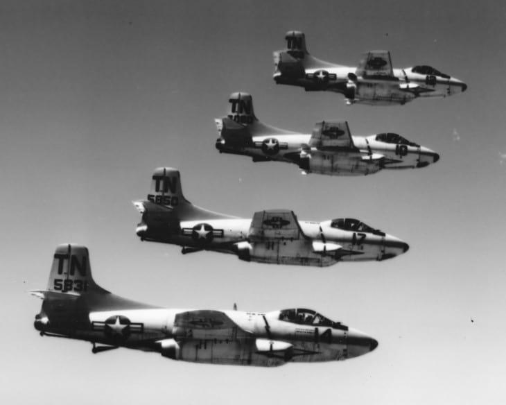 Douglas F3D 2Q Skyknights of VMCJ 3 Squadron