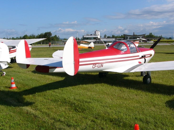 ERCO Ercoupe showing its double rudder