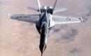 Front view of Northrop YF 17 in flight.